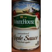 white house applesauce white house unsweetened apple sauce calories nutrition analysis more fooducate