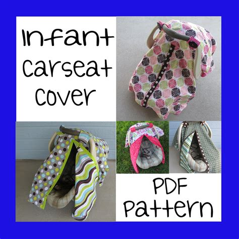 infant car seat slipcover pattern infant car seat cover pdf pattern sew your own