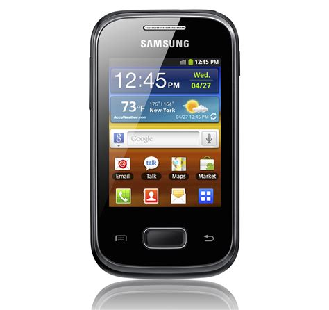 samsung galaxy pocket android 2 3 on a 2 8 display eurodroid
