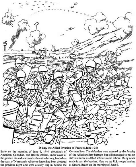 World War 2 Coloring Pages Printable 474879 color1