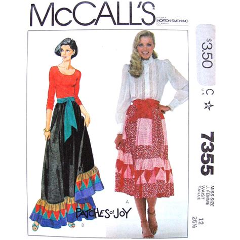 Mccalls Patchwork Patterns - patchwork skirt sewing pattern mccalls 7355 maxi or midi