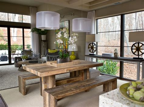 modern farmhouse style 250 ways to harmonize rustic charm with contemporary living books rustic dining room photos hgtv