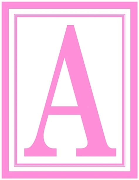 printable letters in pink 8 5x11 inch large rectangle printable alphabet letters a z