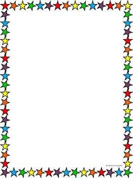 rainbow star border by truthseeker832 | teachers pay teachers