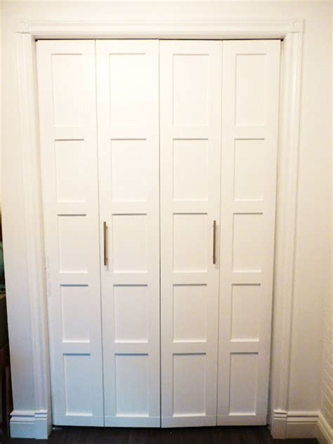 Adding Trim To Bifold Closet Doors - closet door ideas that add style and character