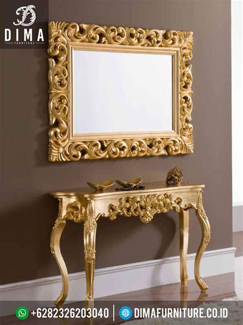 Meja Konsul Cermin st 0244 set meja konsul dan cermin hias gold duco mewah terbaru sofa tamu jepara