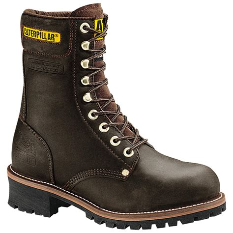 apt 9 mens boots s cat 9 quot steel toe loggers 98936 work boots at