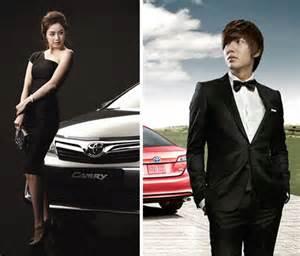 film lee min ho dan kim tae hee korean faces picked to promote toyota camry hancinema