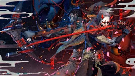 wallpaper engine free download hanzo genji overwatch wallpaper engine free