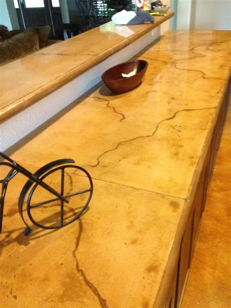 Concrete Countertops Supplies by Colored And Stained Concrete Countertop Rustic Houston