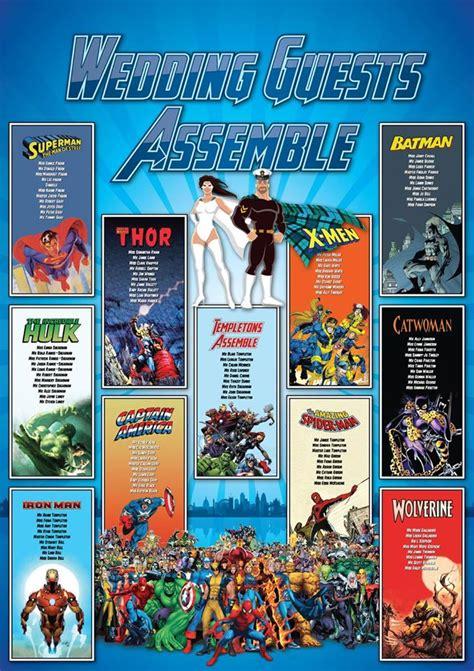 Comic Book and Superhero Wedding Seating Plans