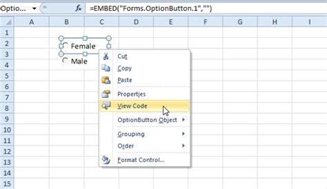 excel 2010 option button tutorial how to create a macro in excel 2010 with button how to