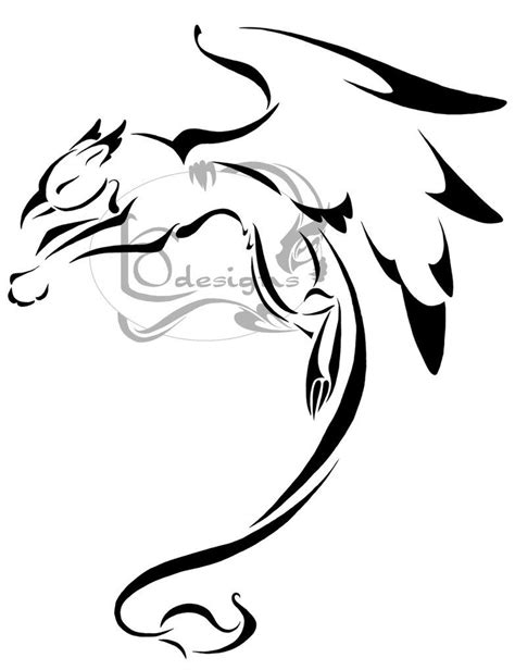 griffin tribal tattoo awesome griffin tat ideas griffin