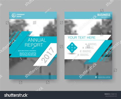 report front page template annual report flyer brochure front page stock vector