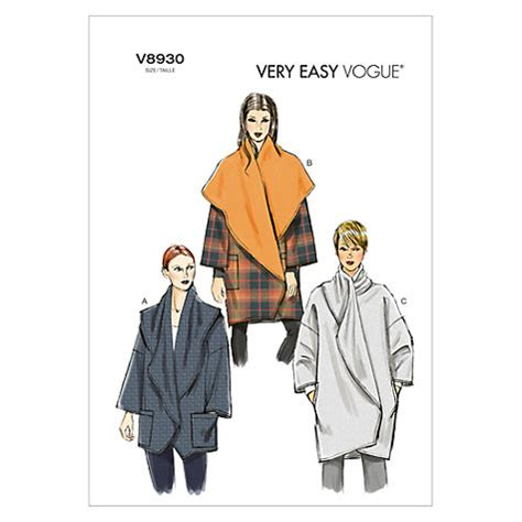 coat pattern ease buy vogue very easy women s cocoon coat sewing pattern