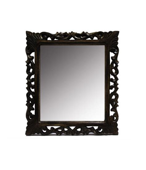 Handmade Mirror Frames - real handmade brown wood wall mirror frame buy real