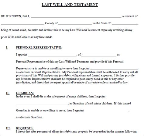 last will and testament word template living will form living free template creative template