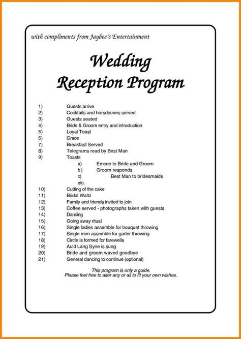 nigerian wedding reception program   Weddings   Wedding