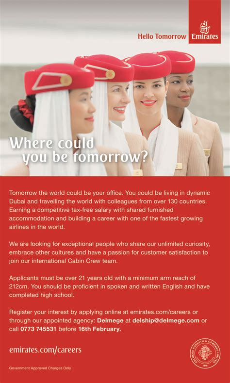 cabin crew vacancies 187 cabin crew team emirates