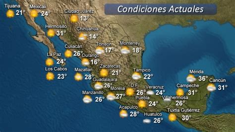 weather map usa and mexico vallarta enjoying high pressure system