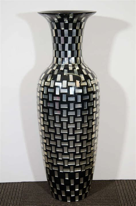 decorative glass vases contemporary decorative tall mosaic tile glass vase for