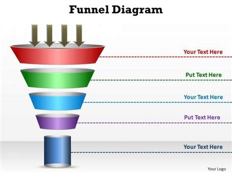 powerpoint funnel template powerpoint funnel diagram template