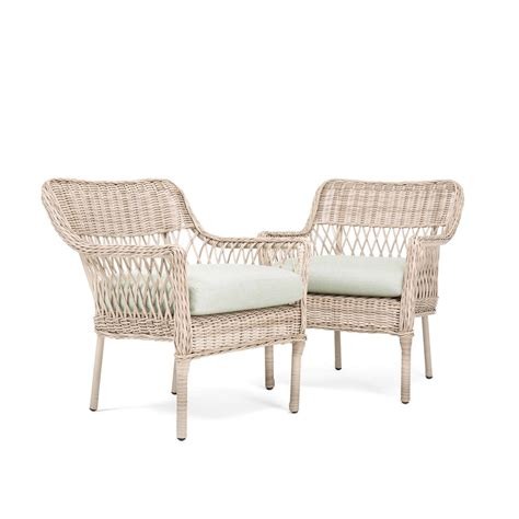 wicker dining chairs with cushions hton bay lemon grove stationary wicker outdoor dining