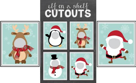 printable elf on a shelf pictures free elf on the shelf cutout printables pretty my party