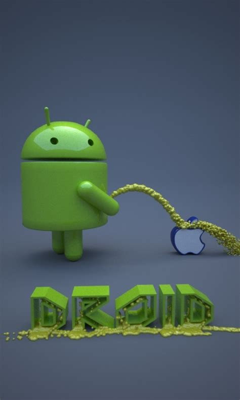 apple on android android urinate on apple by buckeyo on deviantart