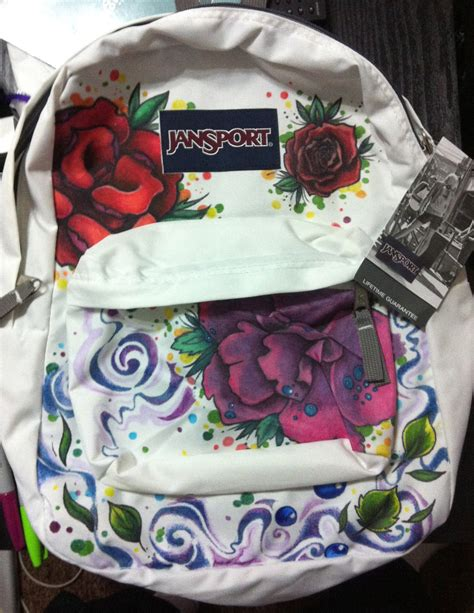 custom design jansport backpack flowers and nature design