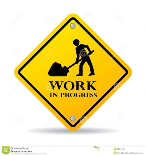 work in progress stock vector image 53215468