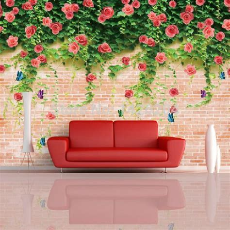 large flower wall murals 3d large brick flower wallpapers wall mural 3d murals wallpaper for walls tv background papel de