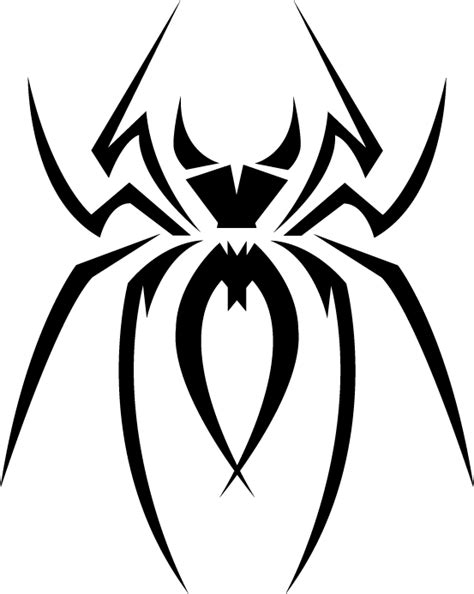 spiderman tribal tattoo tribal spider clipart best