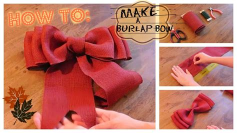 youtube how to make a silver xmas bow how to make a burlap bow