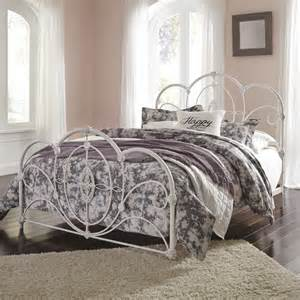 Ashley Furniture Loriday Queen Metal Bed In Aged White