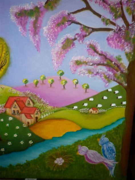 imagenes para pintar acrilico paisaje naif susana ascencio artelista com