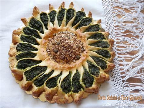 torta a forma di fiore torta salata forma di fiore girasole ricette senza lattosio