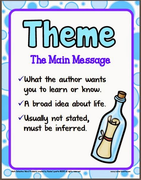 theme by definition ideas for teaching theme and a couple freebies minds