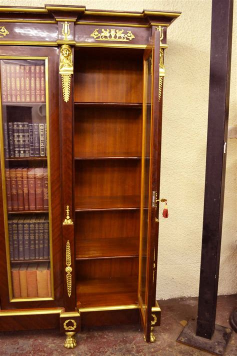 10 Foot Bookcase Regent Antiques Bookcases Large Empire Style Mahogany