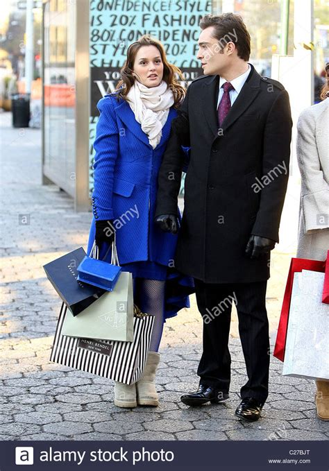leighton meester and ed westwick ed westwick and leighton meester filming scenes for gossip
