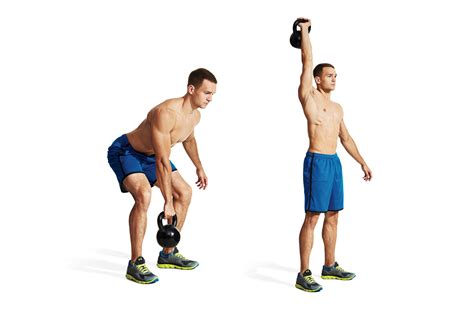 kettlebell swings with dumbbells one arm snatch men s fitness