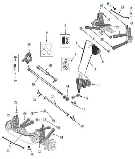 jeep jk suspension diagram jeep wrangler front suspension diagram images