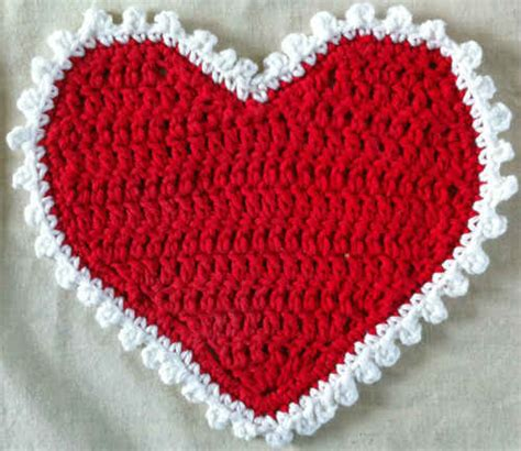 crochet pattern heart dishcloth 1 valentine heart crochet dishcloth