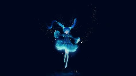 wallpaper blue anime blue anime 747040 walldevil