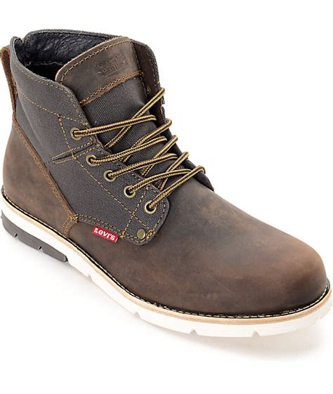 levi boots for levi s jax brown charcoal boots zumiez