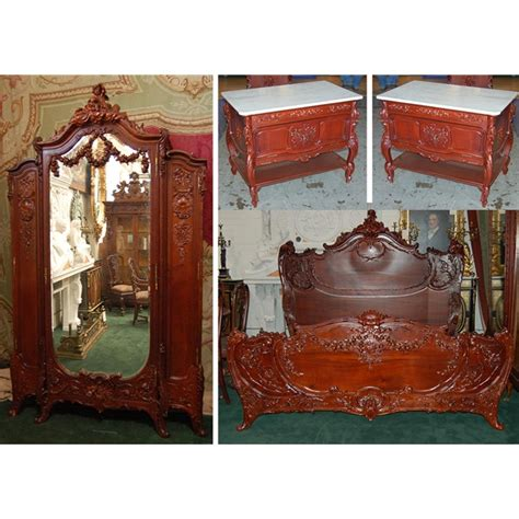 antique bedroom sets for sale antique four pc carved walnut rococo king sized