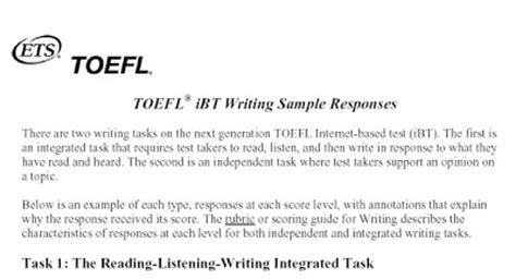 toefl writing section sle responses toefl essay sle