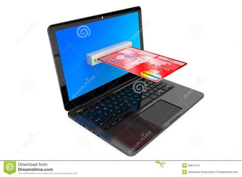 Concept Of Future Credit Card by E Commerce Concept Laptop Computer And Credit Card Stock