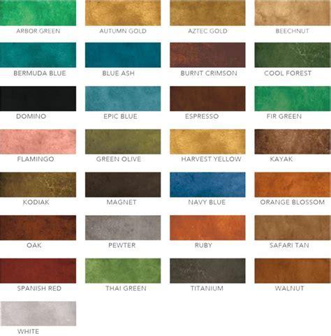 17 best Acid Stain Color Charts images on Pinterest   Acid