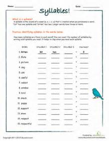 counting syllables part i worksheet education com